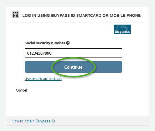 Not receiving code by SMS (Buypass ID in mobile)   eid difi no